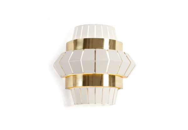 Mambo Unlimited Ideas Wandlampe Messing ivory Comb Wall 1